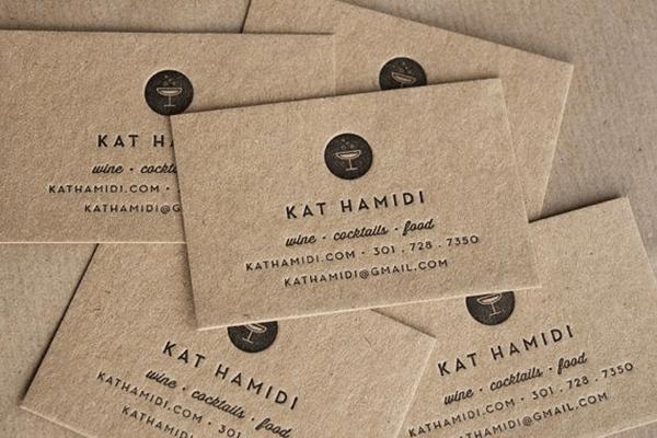 Giấy Kraft được dùng trong in name card
