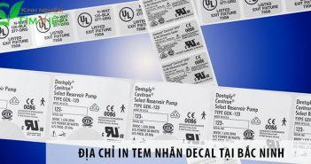 Địa chỉ in tem nhãn decal giá rẻ tại Bắc Ninh