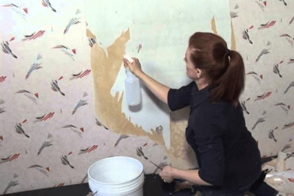 Làm sách các bề mặt trước khi bóc decal dán tường