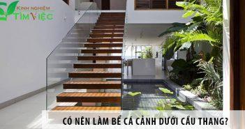 Có nên làm bể cá cảnh dưới cầu thang?