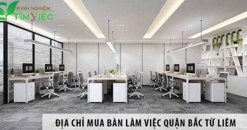 Địa chỉ mua bàn làm việc giá rẻ quận Bắc Từ Liêm Hà Nội