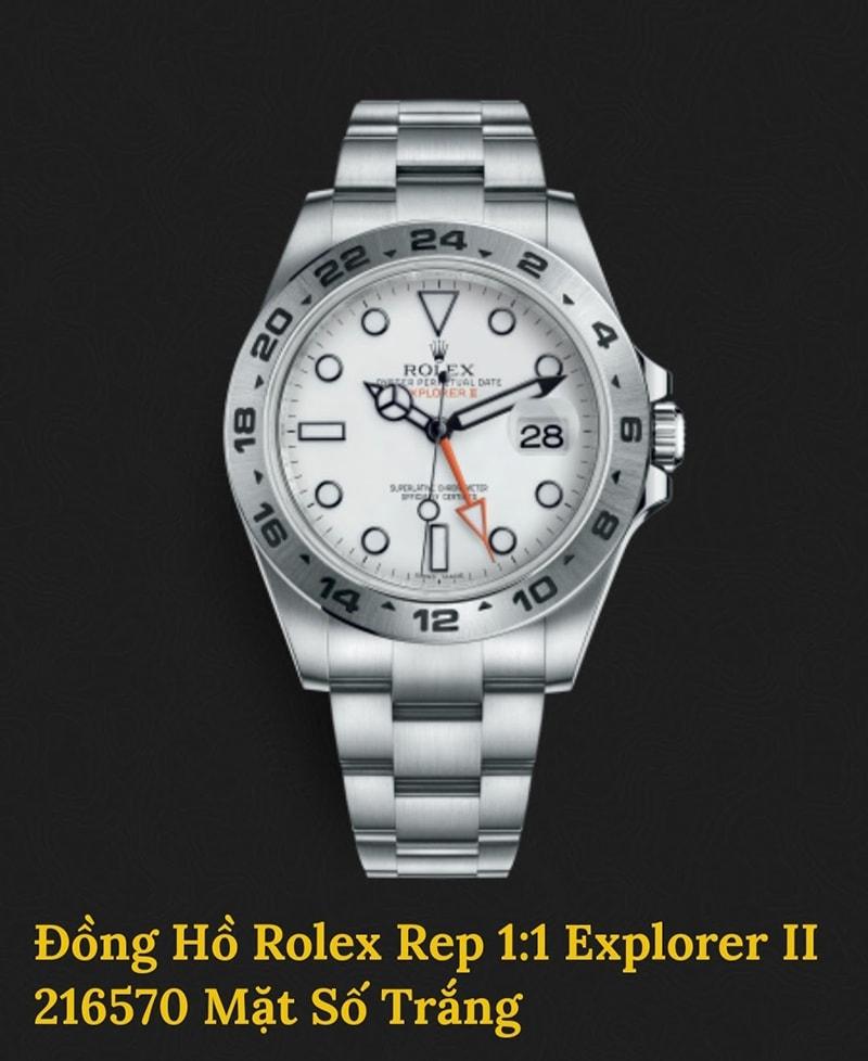 Rolex Replica Explorer II mặt số trắng