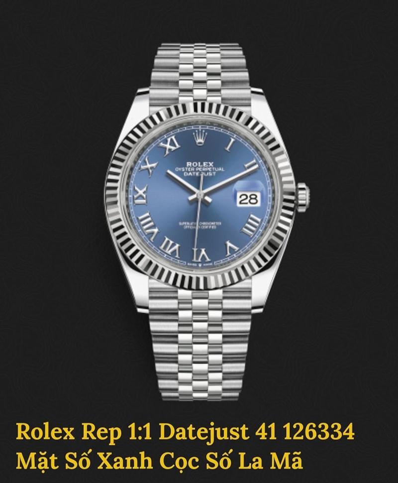 Rolex Replica Datejust mặt số xanh cọc số la mã