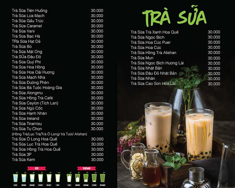 Đa dạng menu đồ uống khi mở quán trà sữa vỉa hè
